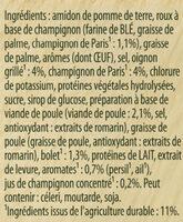 Knorr Soupe Crème de Volaille et Champignons 75g 3 Portions - Ingrediënten - fr