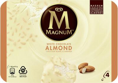 Magnum Glace Batonnet Chocolat Blanc Amande 4x100ml - Product - fr