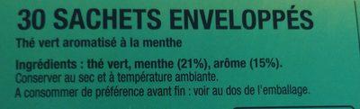 Thé vert menthe - Ingredientes - fr
