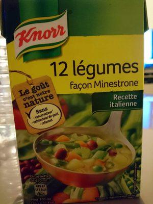 Knorr soupe 12 legumes facon minestrone - Produit