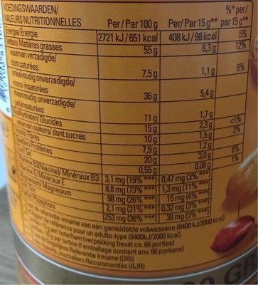 Calvé Pindakaas stukjes pinda 1000 gram - Informations nutritionnelles - fr