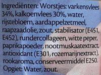 Magere party knaks - Ingrédients - nl