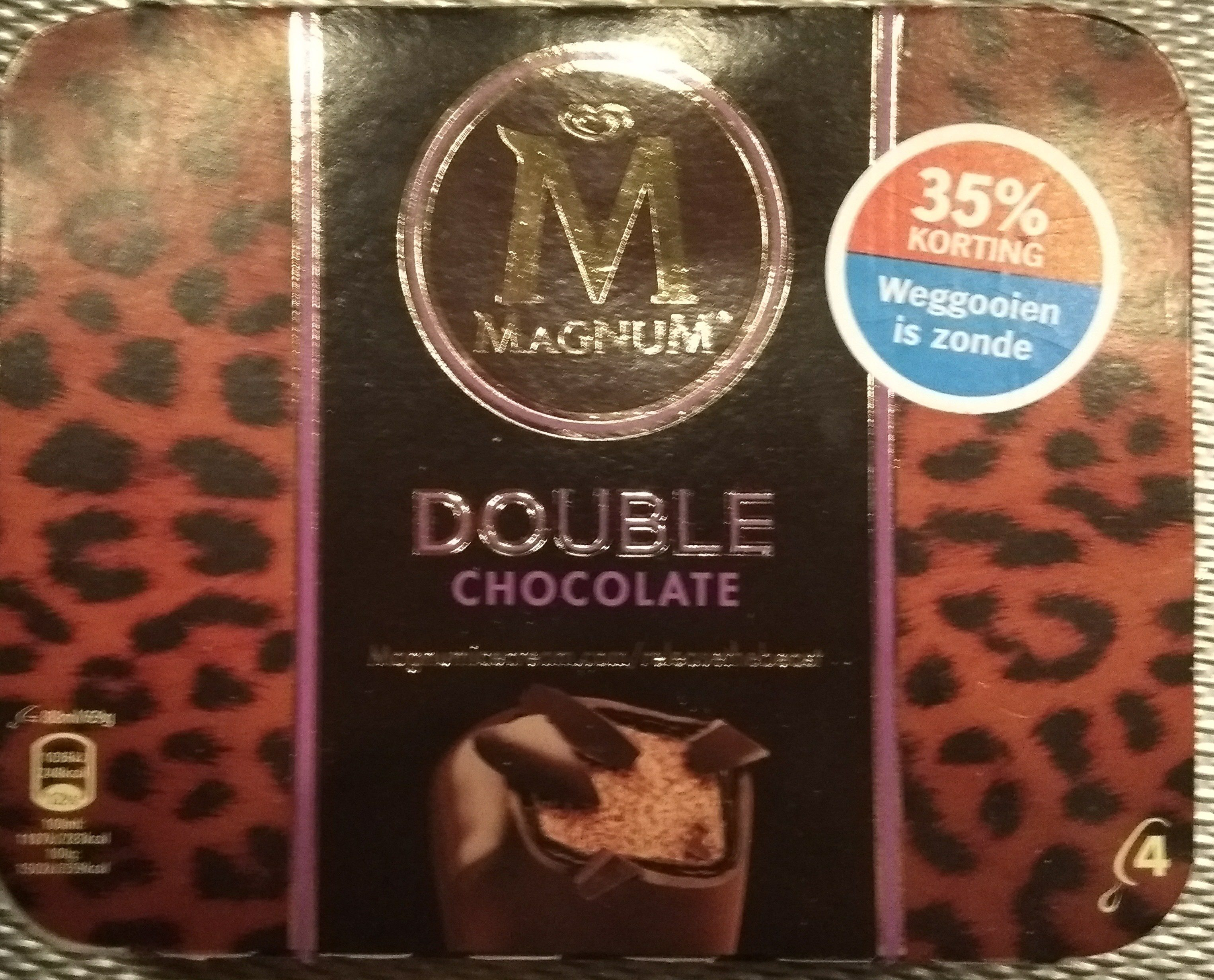 Magnum Batonnet Glace Double Chocolat x 4 352 ml - Product - nl