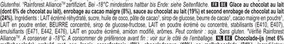 MAGNUM Glace Bâtonnet Double Chocolat 4x88ml - Ingredients - fr