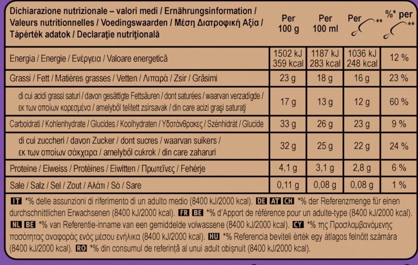 MAGNUM Glace Bâtonnet Double Chocolat 4x88ml - Nutrition facts - fr