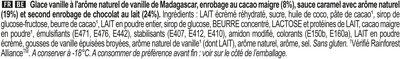 Magnum Glace Bâtonnet Double Caramel x4 - Ingrédients - fr