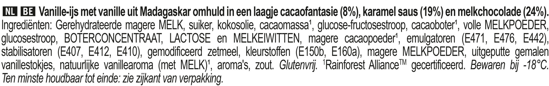 Magnum Glace Bâtonnet Double Caramel x4 - Ingrediënten - nl