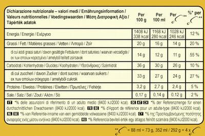 Magnum Glace Bâtonnet Double Caramel x4 - Informations nutritionnelles - fr