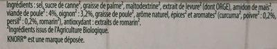 Bouillon Volaille Bio - Ingredients