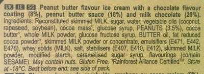 Mini Double Beurre de Cacahuètes - Ingredients