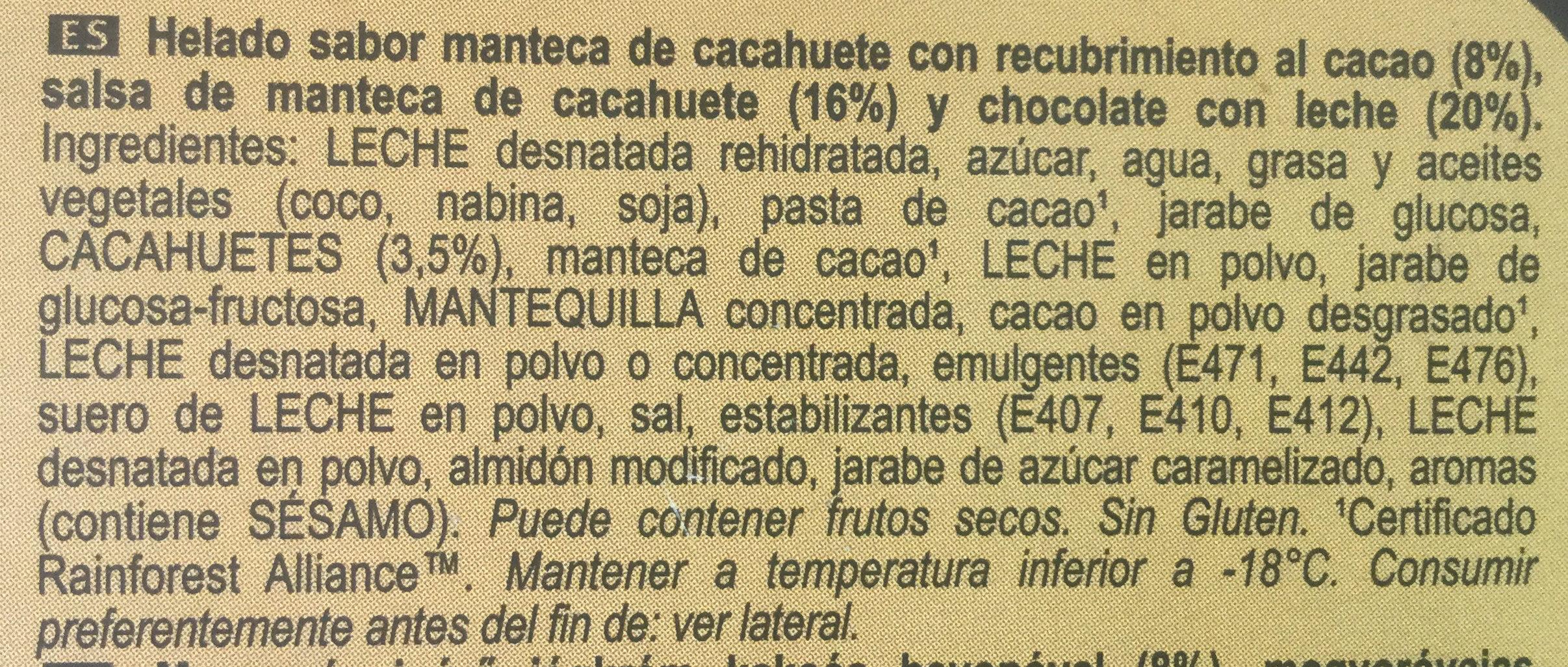Mini Double Beurre de Cacahuètes - Ingredientes