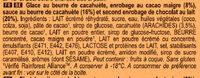 Magnum Glace Batonnet Mini Double Peanut Butter 6x60ml - Ingrédients - fr