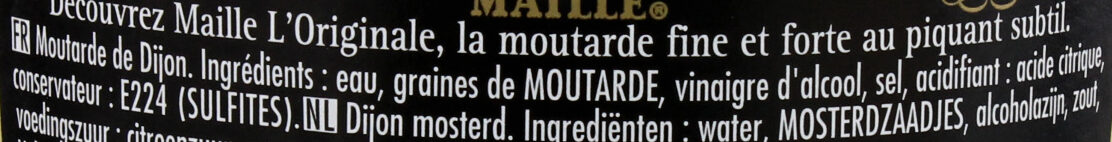 Moutarde Fine de Dijon L'Originale - Ingredienti - fr