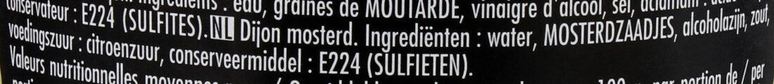 Moutarde Fine de Dijon L'Originale - Ingrediënten - nl