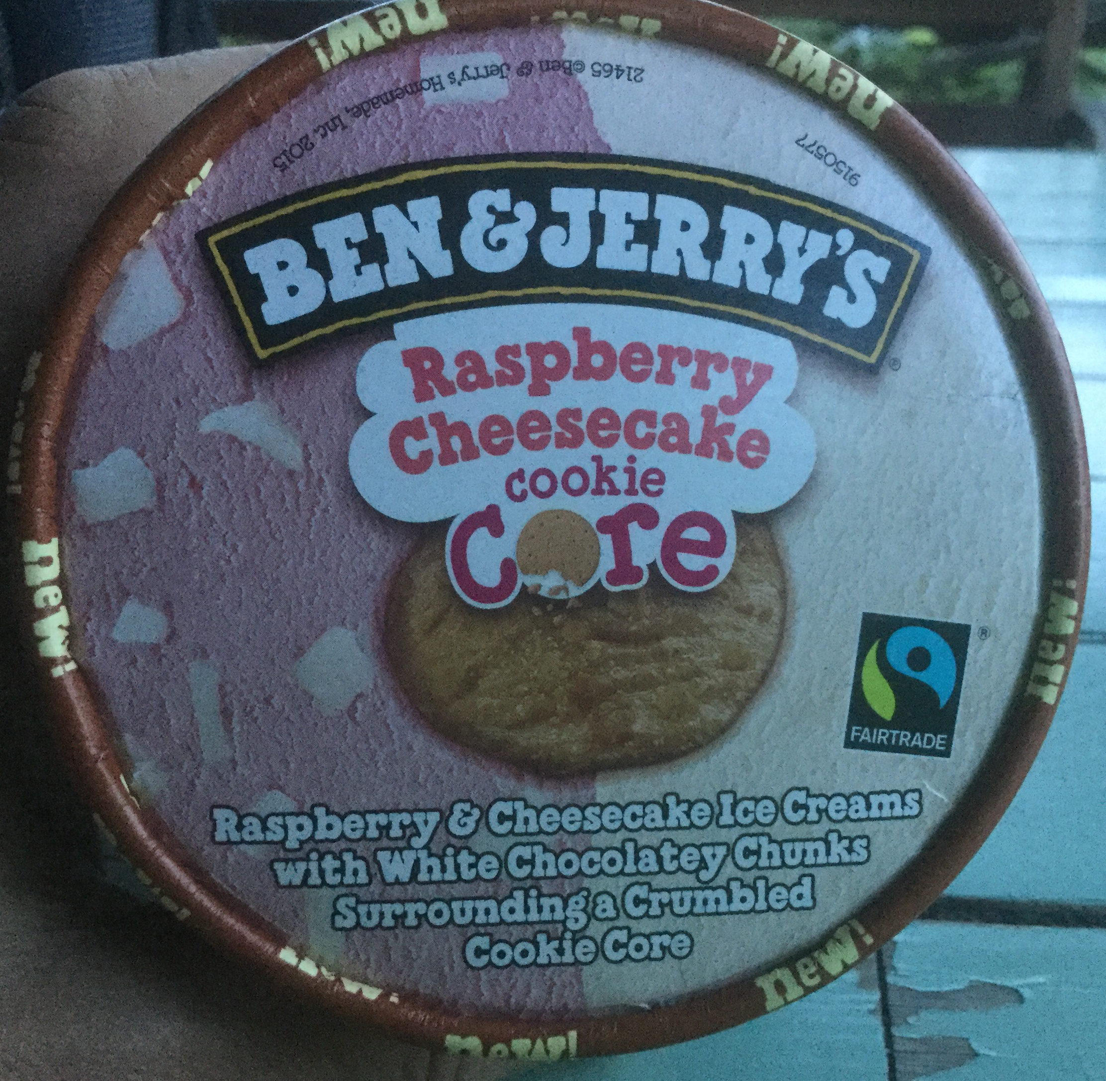 Ben & Jerry's Glace Pot Raspberry Cheesecake - Product - en