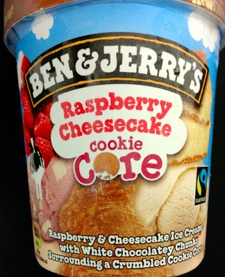 Ben & Jerry's Glace Pot Raspberry Cheesecake - Product - nl