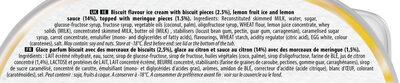Carte D'or Glace Tarte Citron Meringuée 900ml - Ingredienti - fr