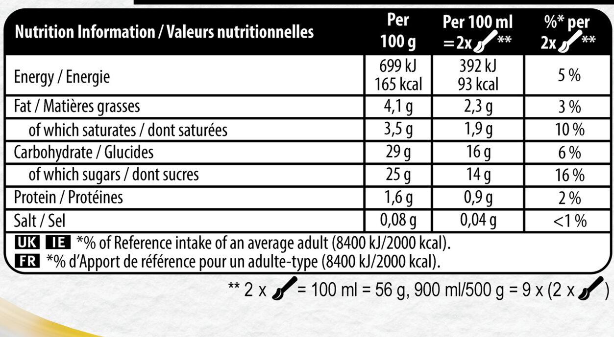 Carte D'or Glace Tarte Citron Meringuée 900ml - Valori nutrizionali - fr