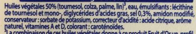 Oméga 3 Léger & Sans Lactose - Ingrediënten