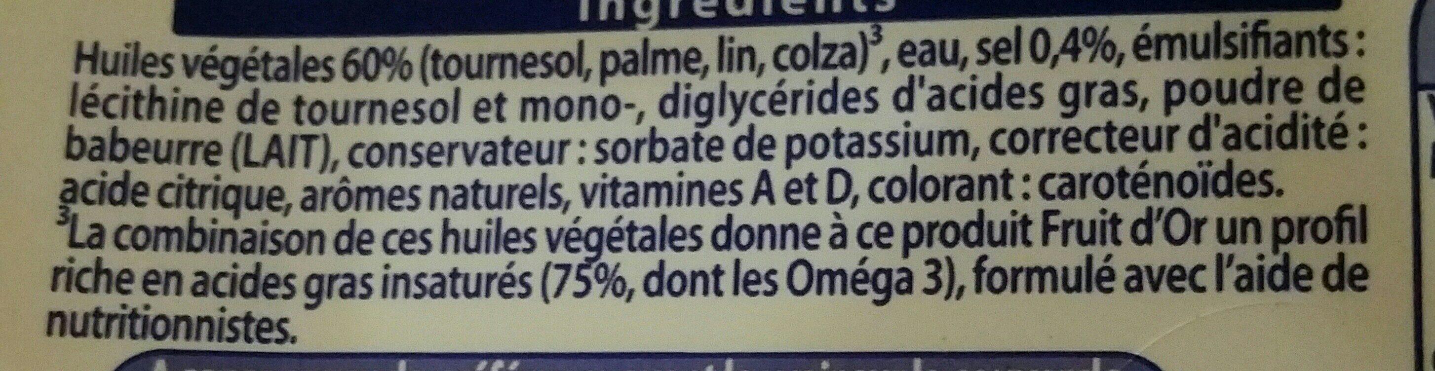 Fruit d'Or doux Tartine & Cuisson Oméga 3 - Ingrediënten - fr