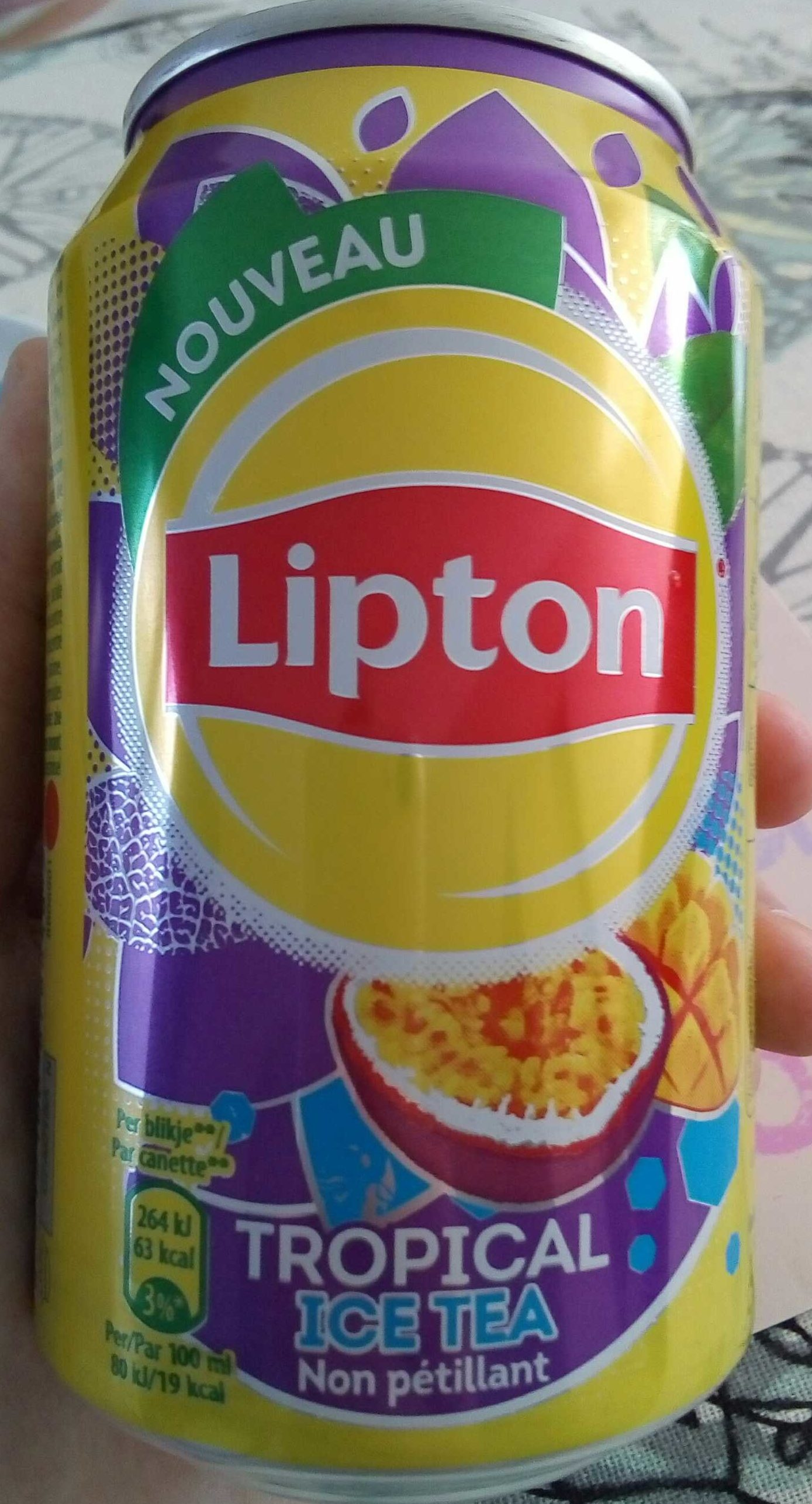 Lipton-ice Tea -tropical Fruit-330ml-belgium - Product