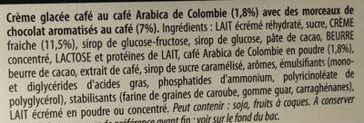 Les Authentiques Café - Ingrédients