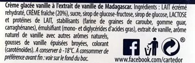 Glace à la vanille - Ingredients - fr
