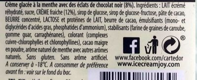 Glace menthe - Ingrédients - fr