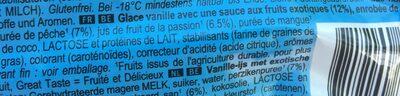 Glace Solero Exotic - Ingredients - fr