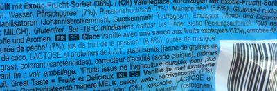 Glace Solero Exotic - Ingredientes
