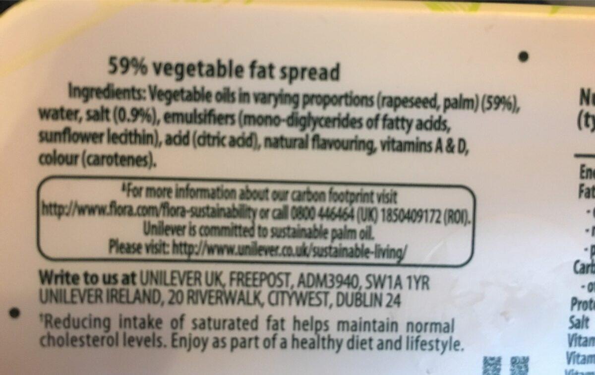 Flora dairy free - Ingredients