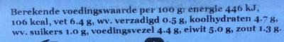 Knoflook mosterd - Informations nutritionnelles - nl