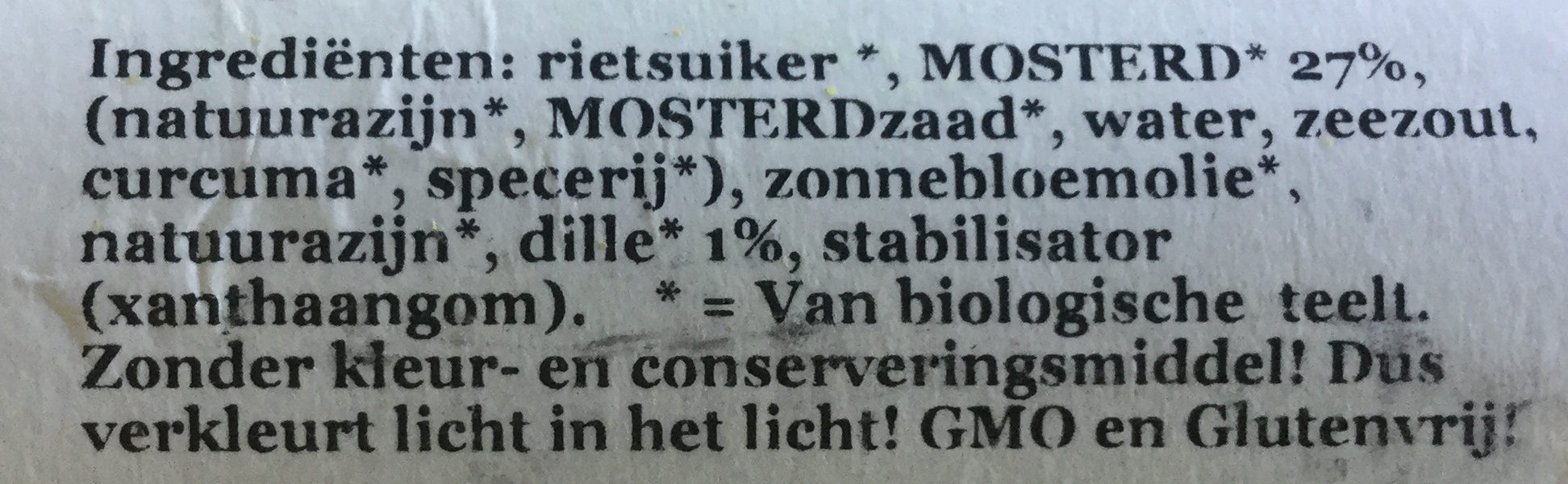 Mosterd dille dressing - Ingredients