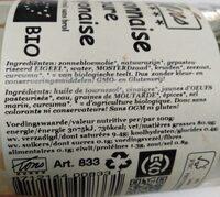 Mayonnaise pure - Voedingswaarden
