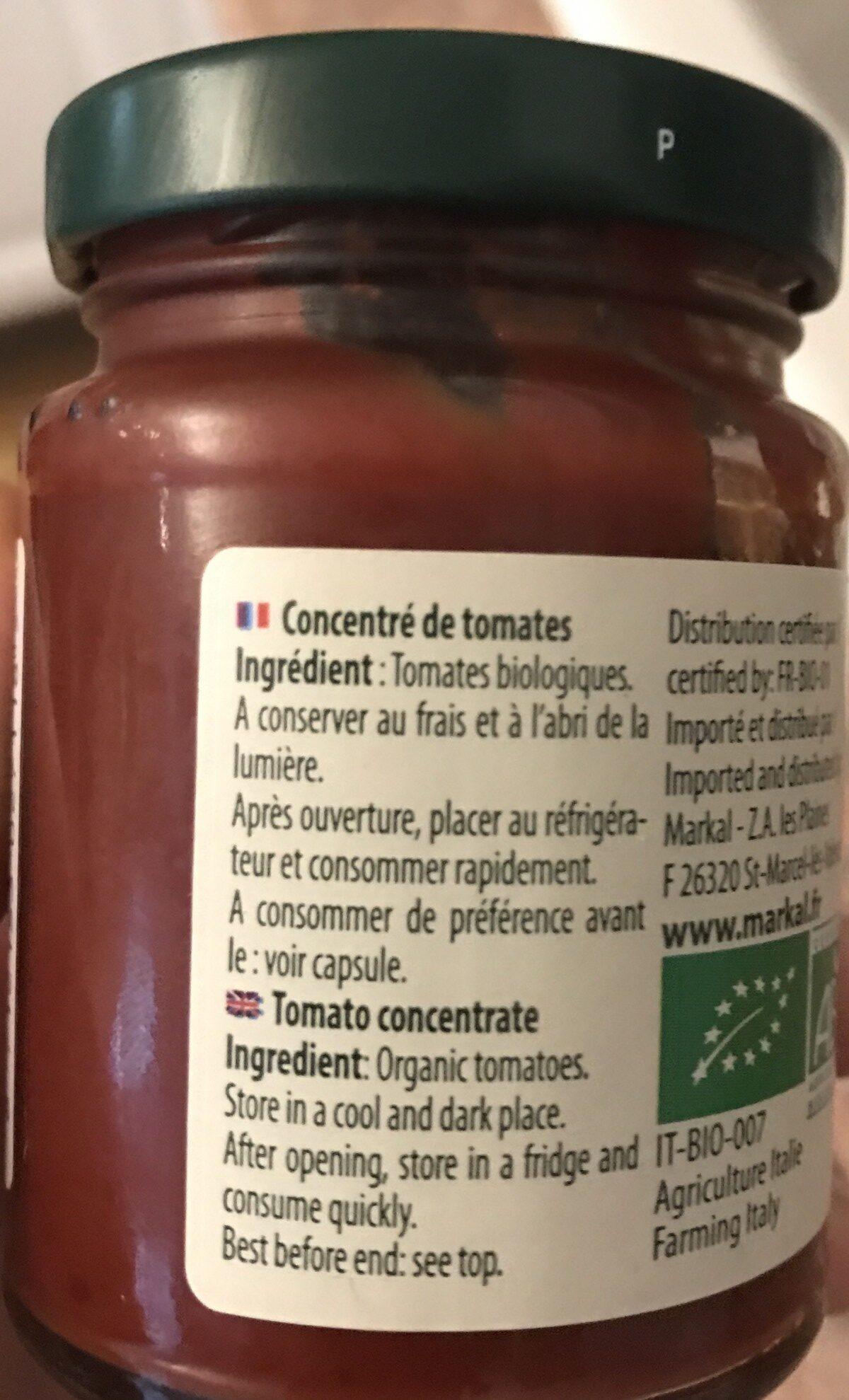 Concentré de tomates - Ingrediënten - fr