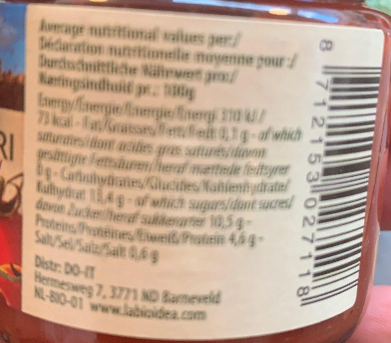 Concentré de tomates - Voedingswaarden - fr