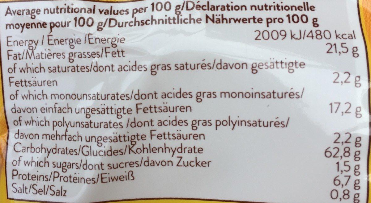 CHIPS DE MAIS NATURE SANS GLUTEN - Nutrition facts - fr