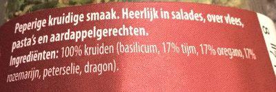 Provencaalse kruiden - Ingrediënten
