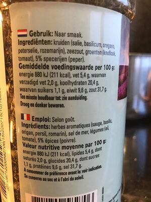 Mediterranean italy - Ingredients