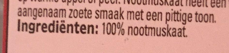 Nootmuskaat gemalen - Ingrediënten - nl
