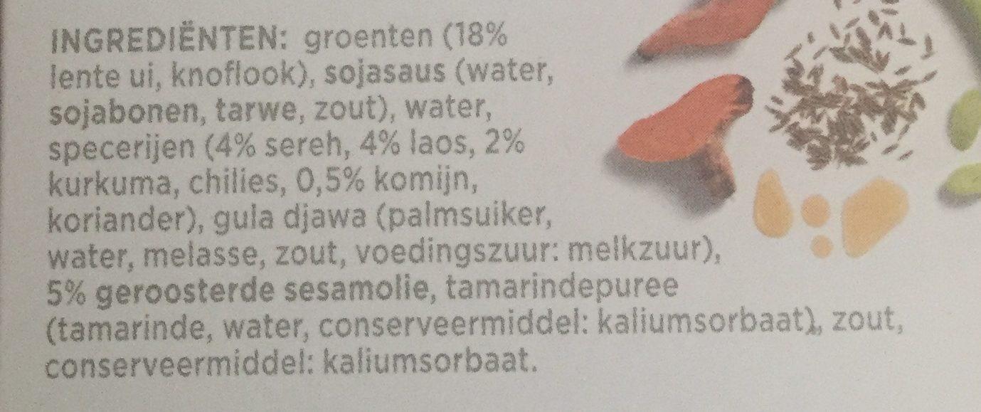 Marinade Javaans - Ingredients - nl