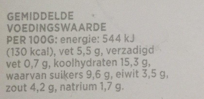 Marinade Javaans - Nutrition facts - nl