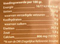 Oud 48+ kaas - Nutrition facts - nl