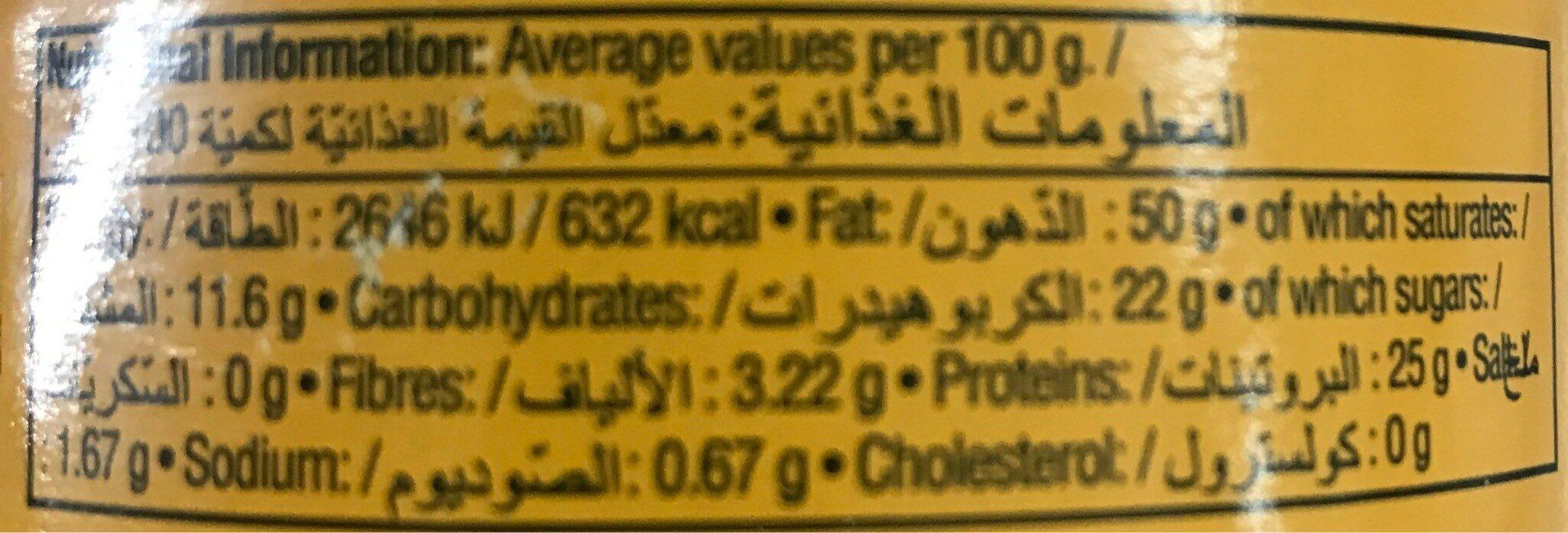 Spread peanut butter - Nutrition facts - en