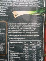 Unox - Ingredients - en
