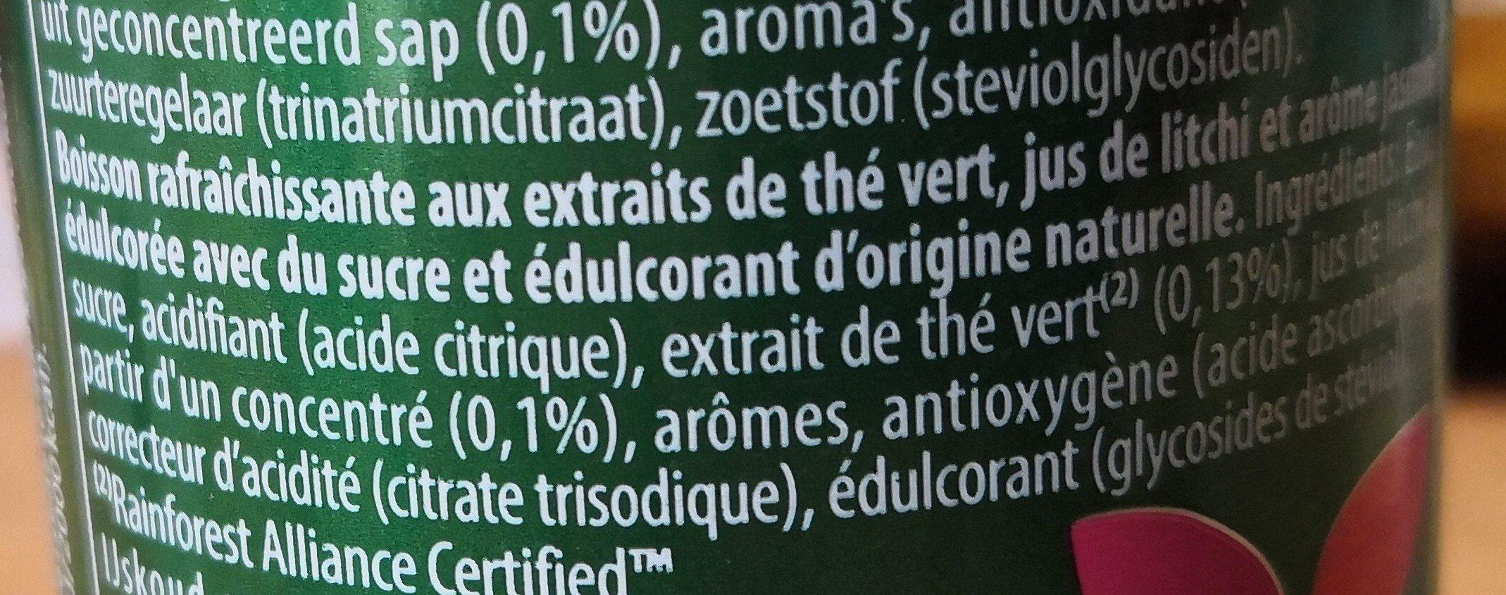 Ice tee green - Ingredients - fr