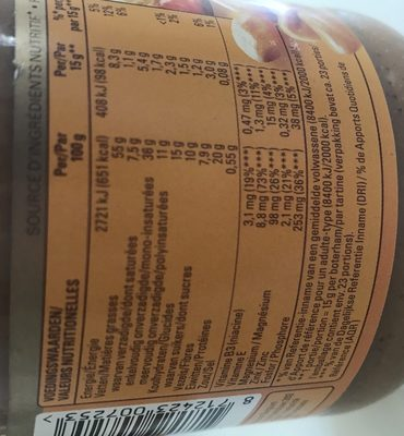 pâte de cacahuète - Ingrediënten