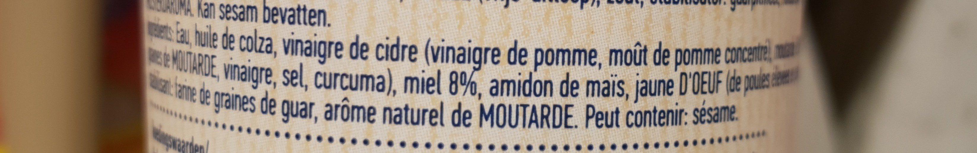 Honey and Mustard - Salad dressing - Ingrediënten - fr