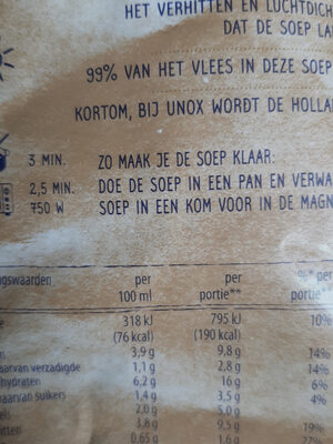 Hollandse Erwtensoep - Ingrediënten