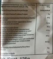 Bio-organic hand cooked chips - Nutrition facts - en